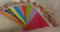 egyszínű zászlógirland 3 m-es (több színben)