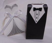 vendégajándék dobozka szett, 1 db vőlegény+ 1 db menyasszony-606409