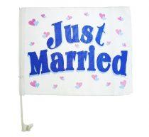 just married textil zászló-((40x30 cm)