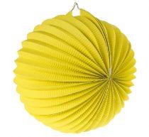 papír gömb lampion 25 cm, sárga-ldkzo25