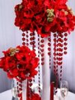 Kristály girland ,piros (1 m)