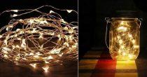 LED fényfüzér meleg fényű, 1 m (10 db led)- elemes