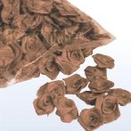 szatén rózsafej 2,5 cm-es (50 db) barna