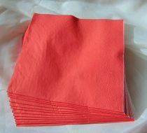 33*33 szalvéta, 3 rétegű (20 db/cs) korallpiros - 0042