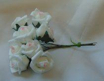 habrózsa csokor fehér, 7 cm-s (12 szálas)