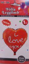 fólia lufi I love You !-51 cm-s (219232)