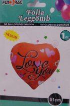 fólia lufi I love You !-51 cm-s (610737)