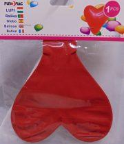 szív formájú óriás gumi lufi piros (209639)