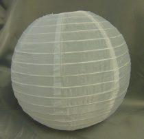 fehér organza lampion (25 cm)