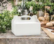 sütis doboz fehér (19x14x9 cm) - 10 db