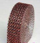 strassz dekorszalag 3 cm *3 m - barna (ASP)