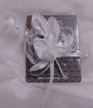 esküvői kitűző (12 cm)