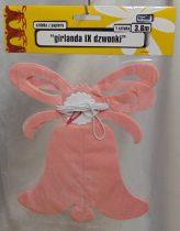 papír harang girland , rózsaszín(20 cm * 3,6 m)