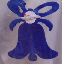 papír harang girland , kék (20 cm * 3,6 m)