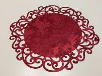 ndás szélű asztalközép, bordó rózsás (36 cm)-4 db