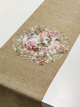 ndás szélű asztalközép, vintage rózsás (23 cm)-4 db