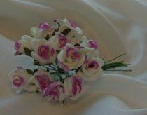 habrózsa csokor lila-fehér,12 cm-s (12 szálas)