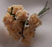 habrózsa csokor barack-fehér, 12 cm-s (12 szálas)
