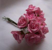 habrózsa csokor s.rózsaszín, 12 cm-s (12 szálas)