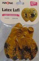 Ballagási gumi lufi arany , 30 cm-s (5 db)