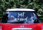 Just married matrica felirat