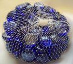 dekorkő,dekorkavics s.kék (kb.100 db), 2 cm-12924